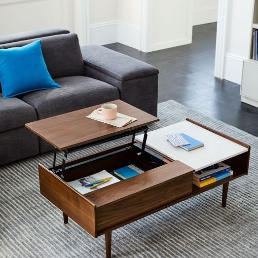 West Elm Mid-Century Double Pop Up Coffee Table