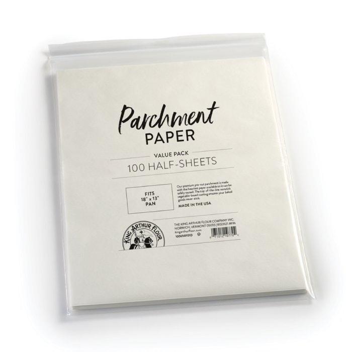 King Arthur Flour Baking Parchment Paper -- 100 Half Sheets