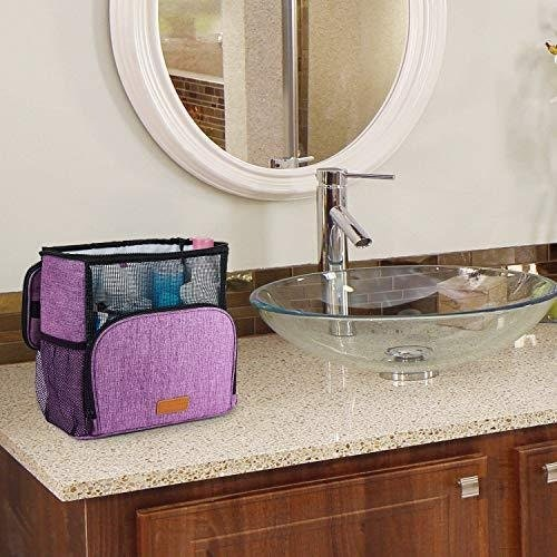 Hiverst Hanging Shower Caddy Toiletry Tote Bag