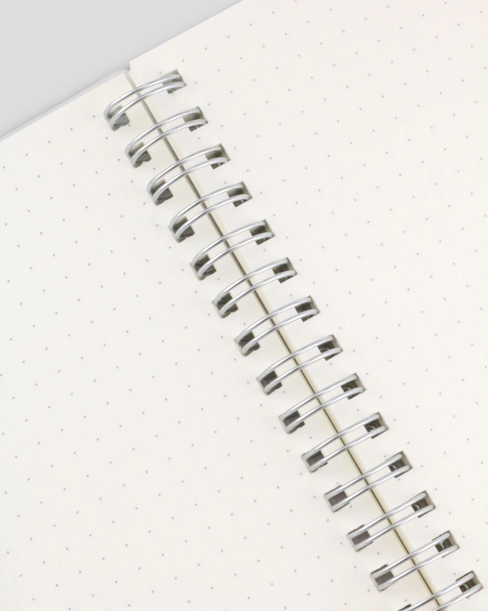 Miliko Square Grid Spiral Notebook