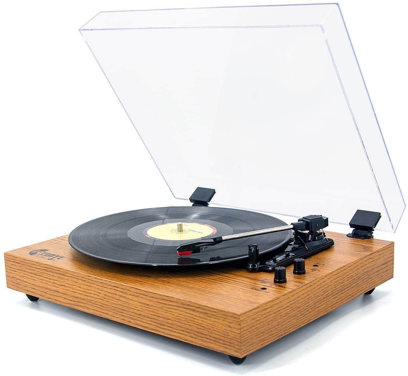Vinyl Music on Retro Record Player