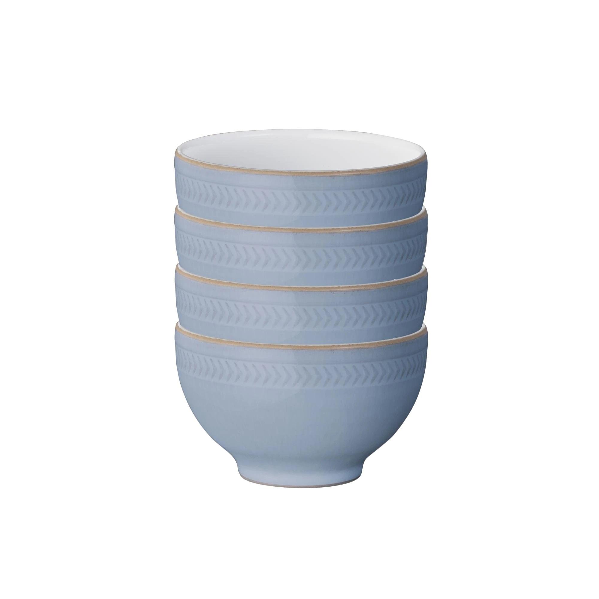 Natural Denim 4pc Bowl Set