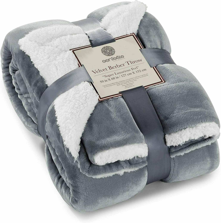 Genteele Sherpa Throw Blanket