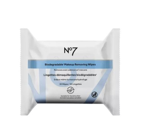 No7 Biodegradable Makeup Removing Wipes - 30ct