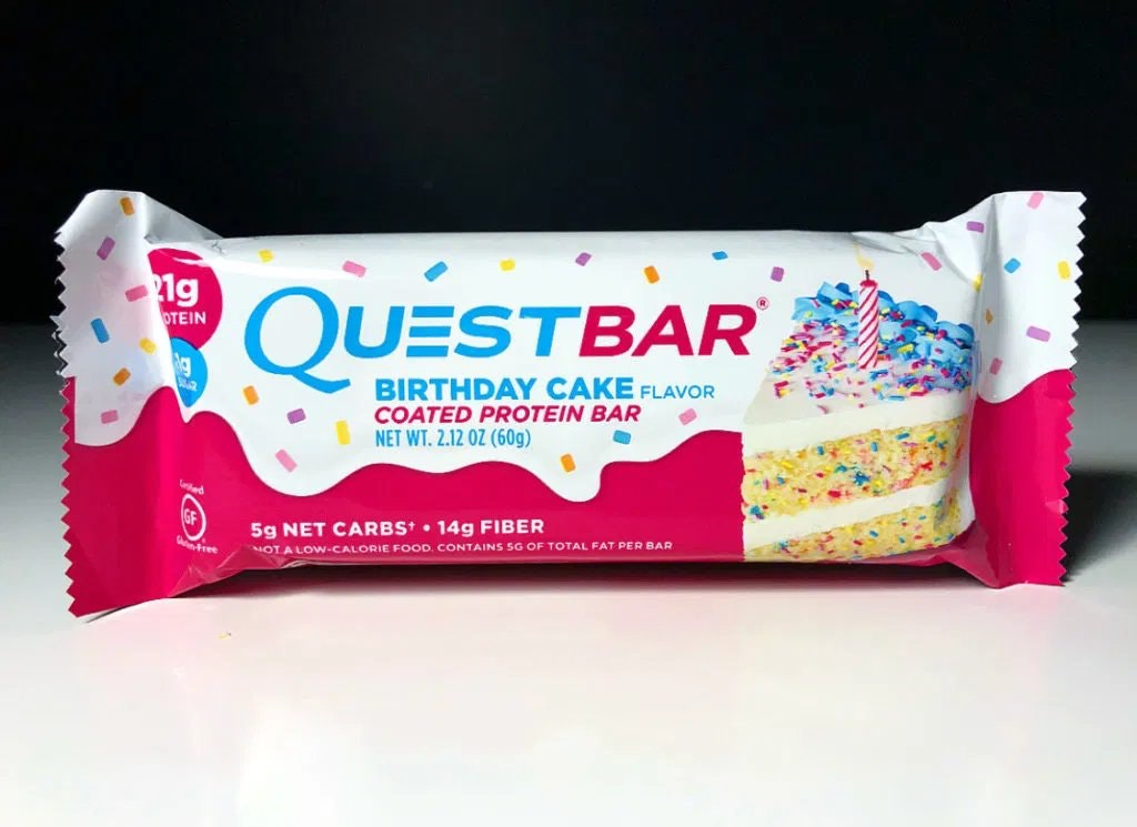 Quest Bar Birthday Cake