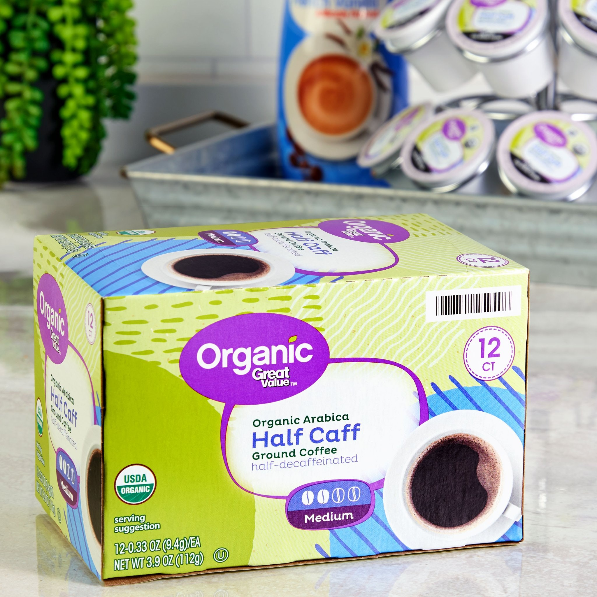 Great Value Organic Arabica Half-Caff Coffee Pods