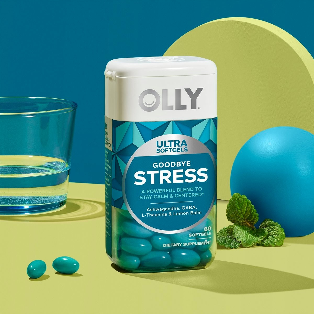 Olly Goodbye Stress Softgels and Gummies