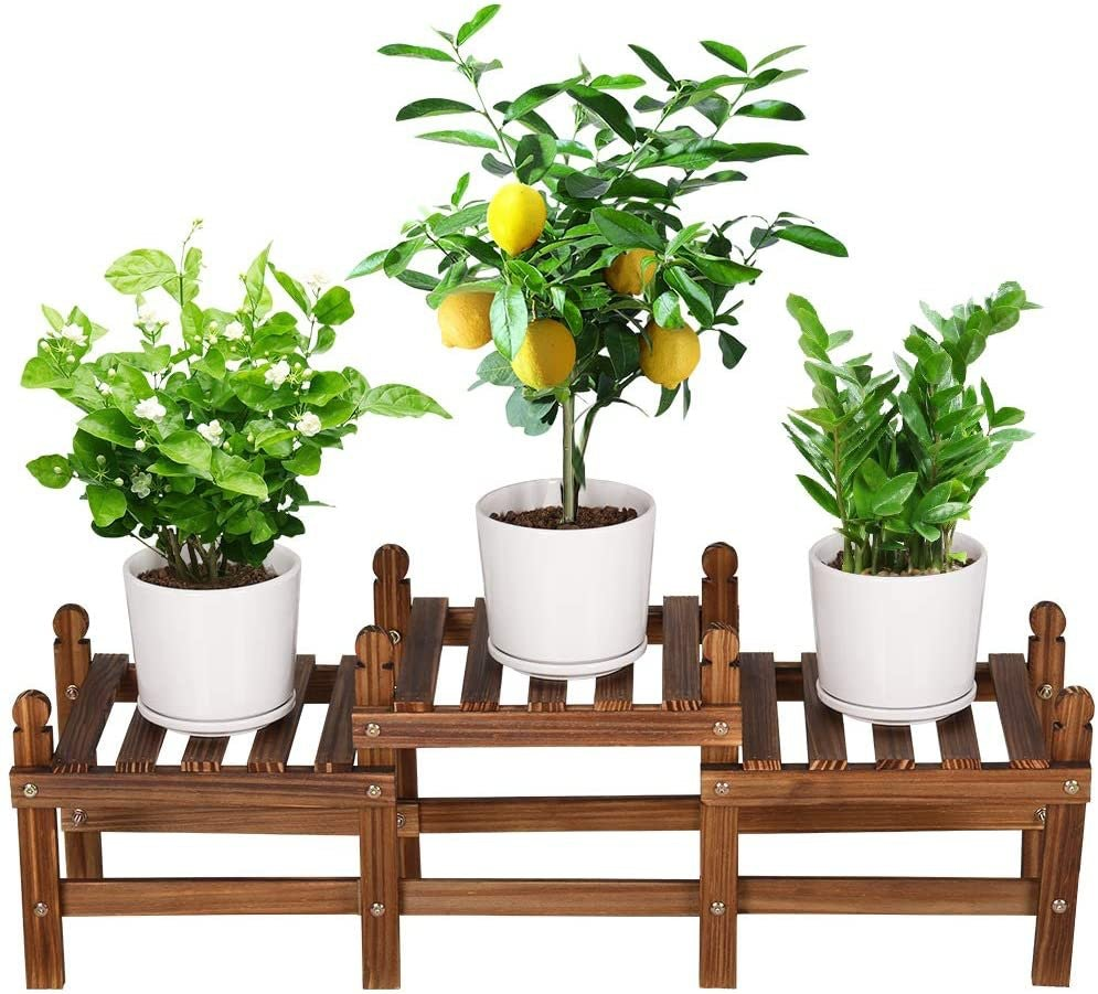 Multi-Tiered Wood Plant Stand