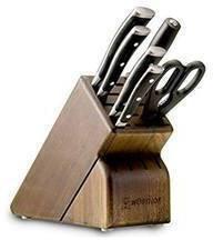 Wusthof Classic Ikon 7-Piece Walnut Block Knife Set