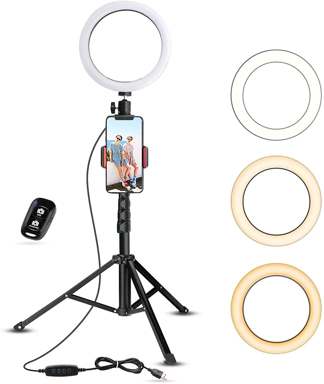 Ring Light With Stand & Phone Holder