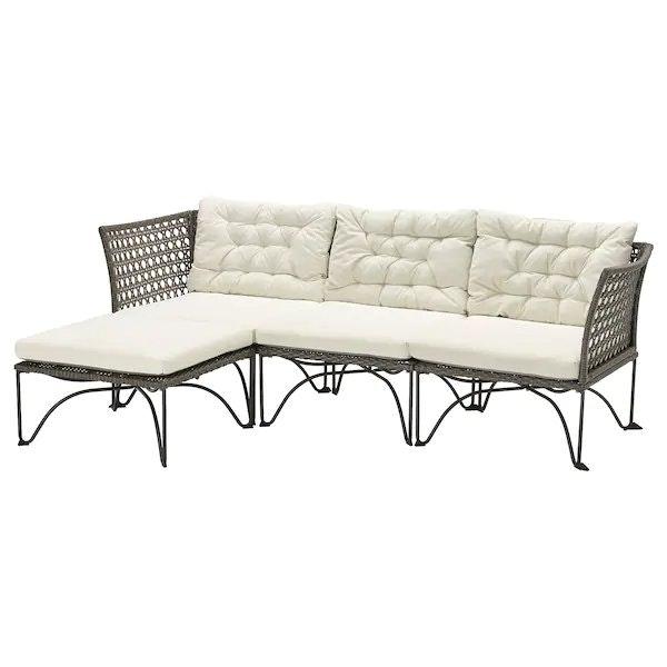 Ikea Jutholmen 3-Seat Outdoor Modular Sofa