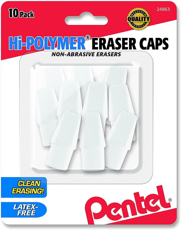 Pentel White Pencil Eraser Caps