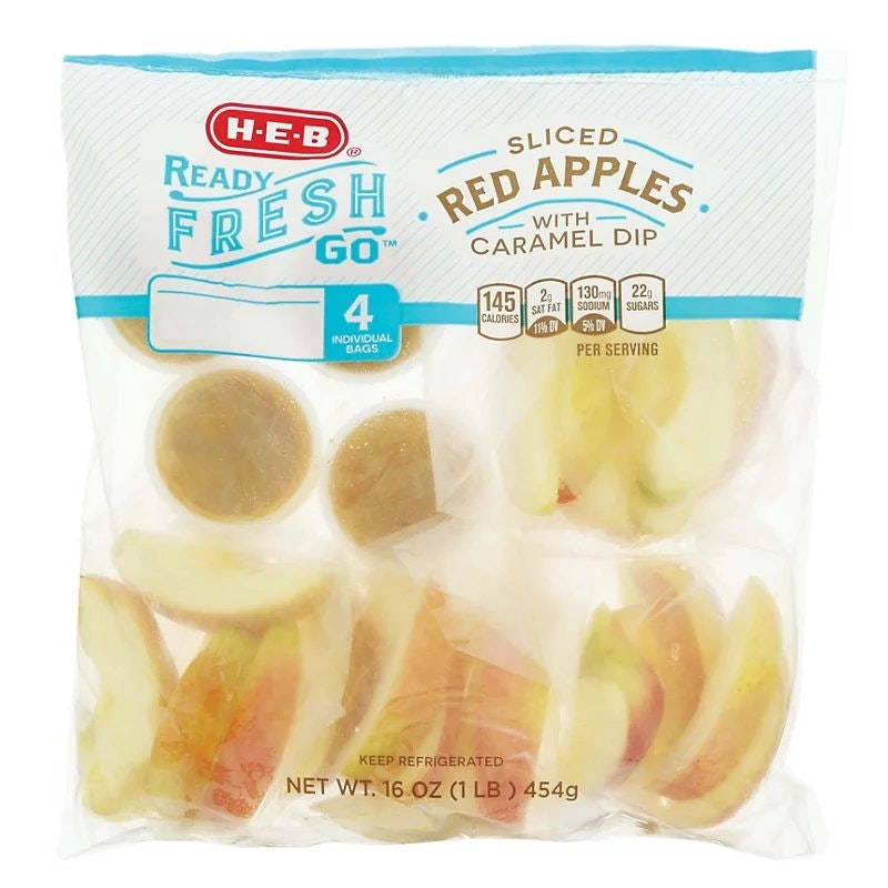 Heb Apples With Cheese and Caramel Dip