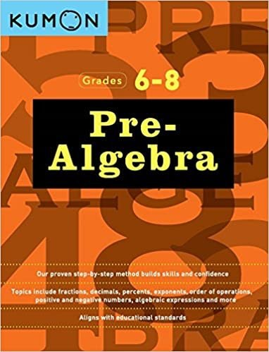 Kumon Pre-Algebra Book