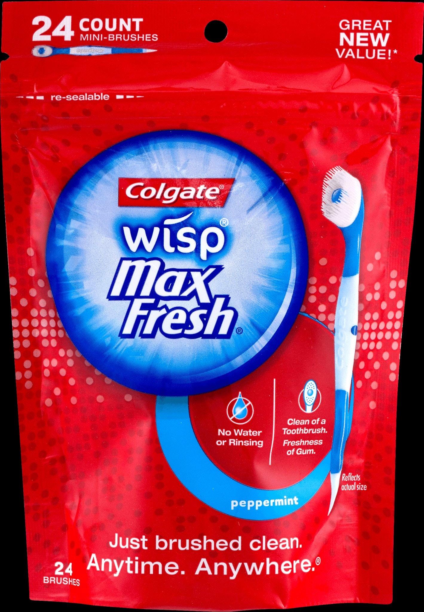 Colgate Wisp Portable Peppermint Flavor Mini-Brush