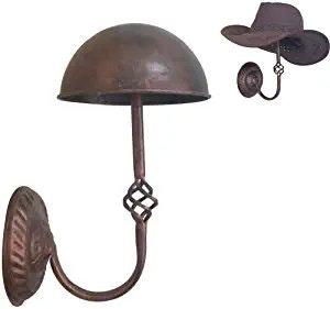 Queens Vintage Design Copper Metal Cap Hat Rack