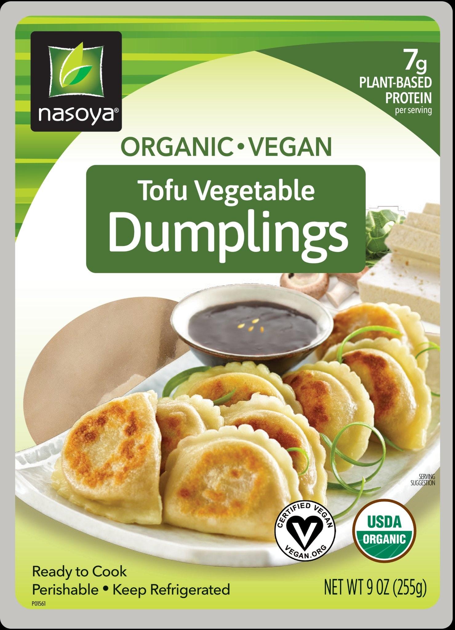 Nasoya Organic Vegan Tofu Vegetable Dumplings