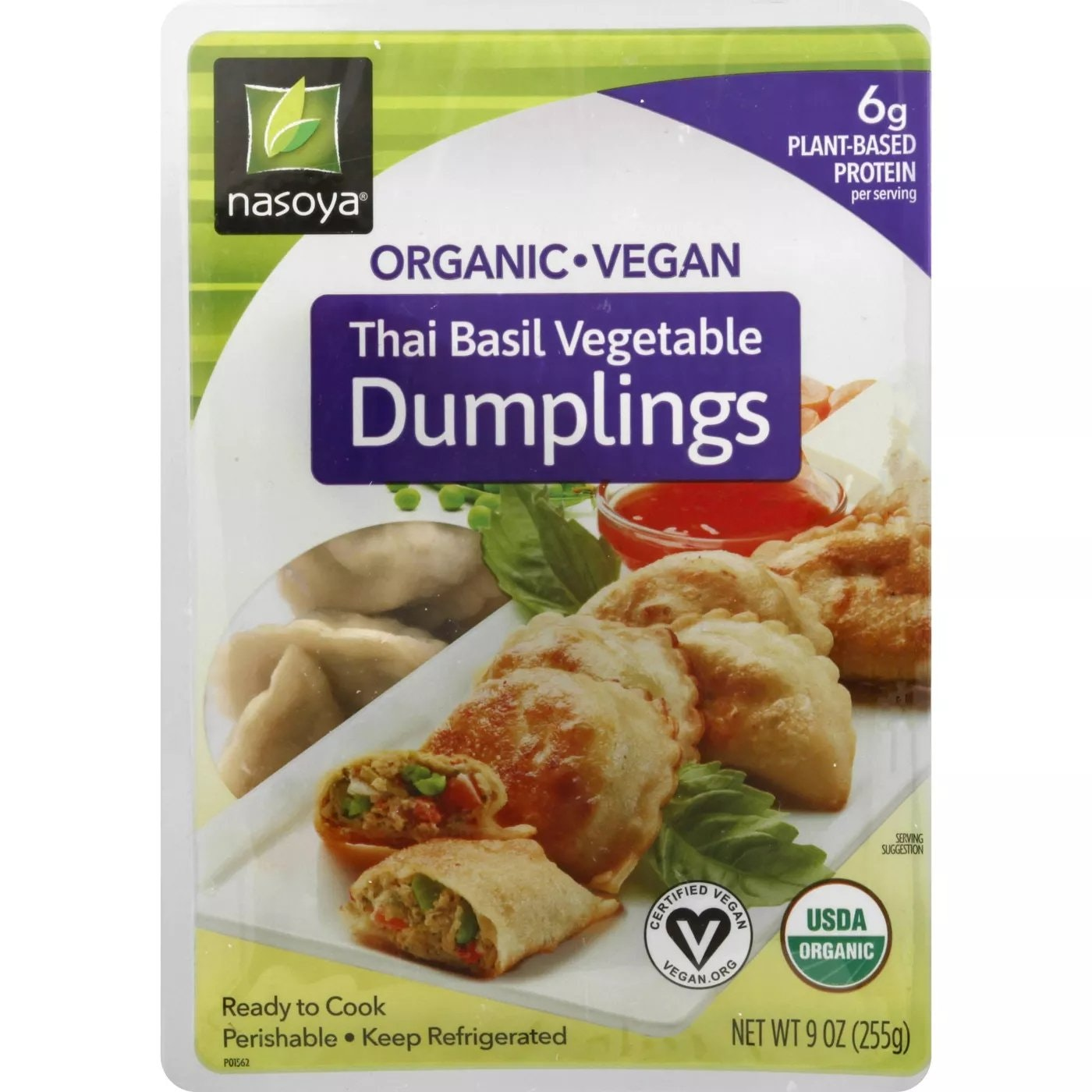 Nasoya Organic Vegan Thai Basil Vegetable Dumplings