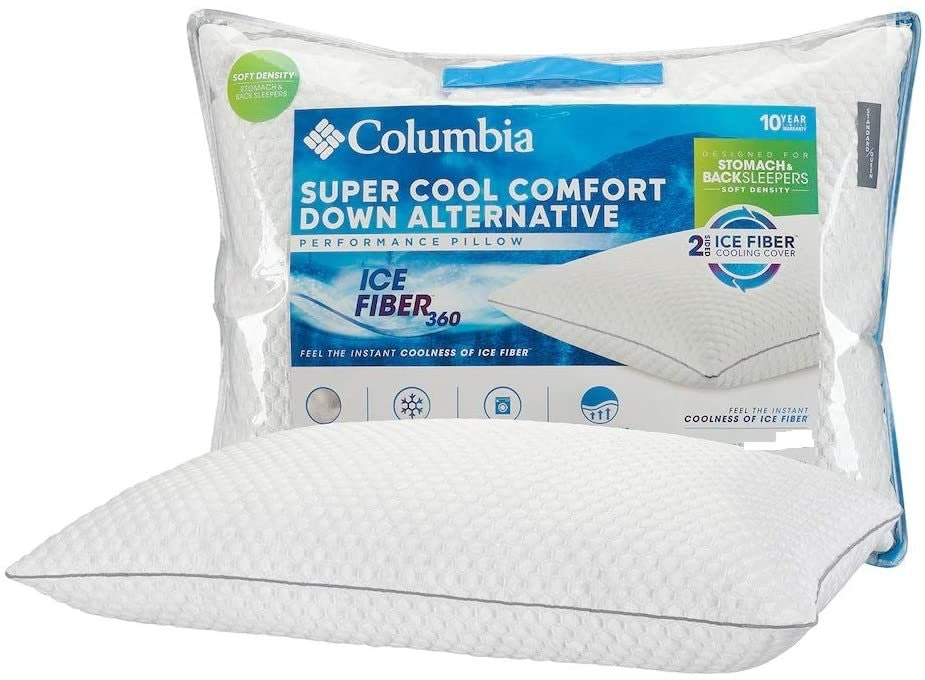 Columbia Ice Fiber Back & Stomach Sleeper Down Alternative Pillow