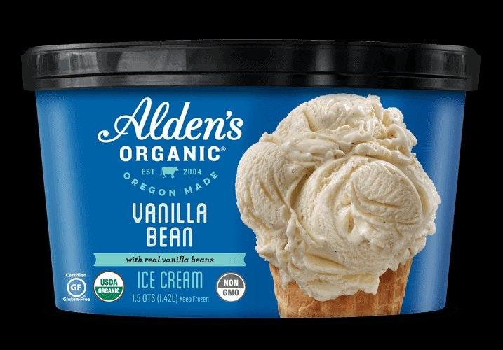 Alden's Organic Vanilla Bean Ice Cream