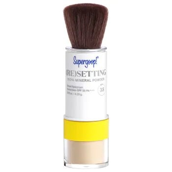 Supergoop! Invincible Setting Powder, Translucent - 0.15 Oz - 100% Mineral Makeup Setting Powder & Broad Spectrum Spf 45
