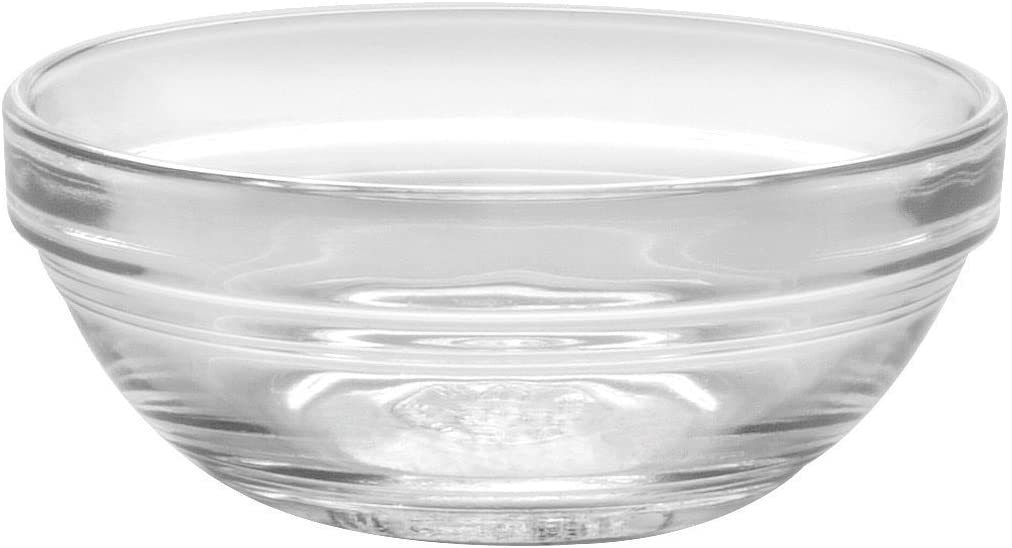 Duralex Stackable Clear Glass Bowl Set