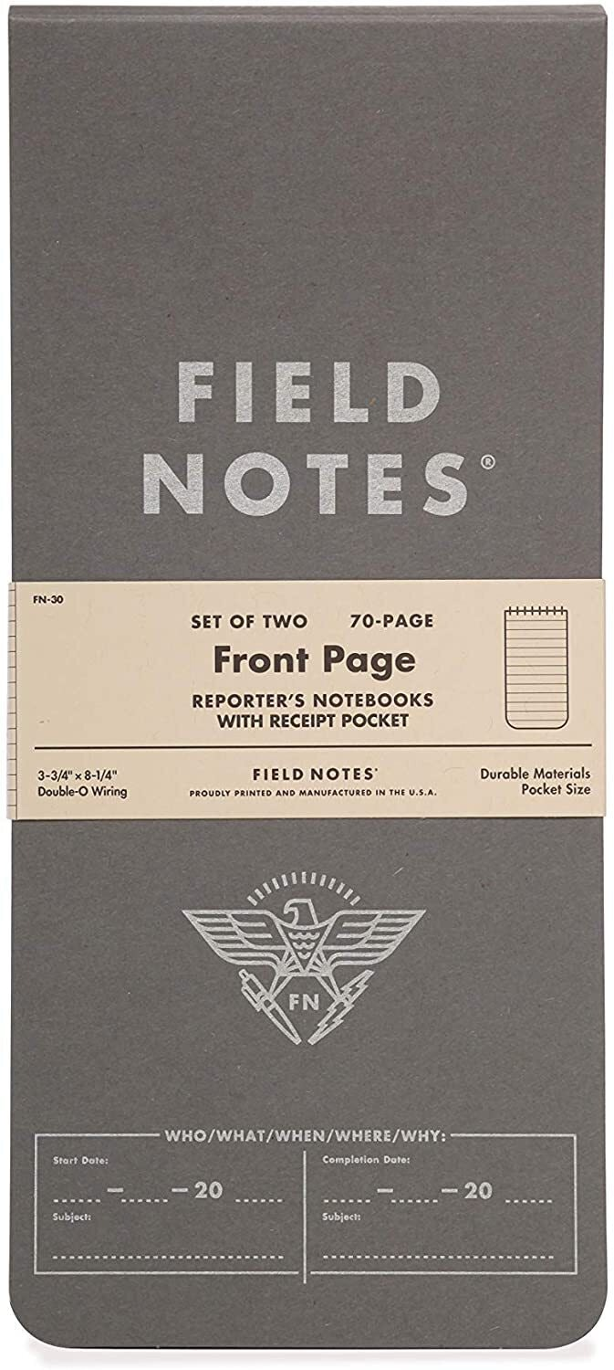 Field Notes Front Page