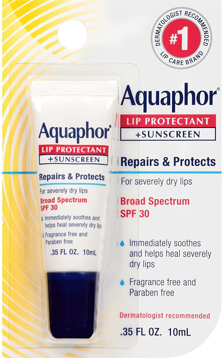 Aquaphor Lip Protectant + Sunscreen