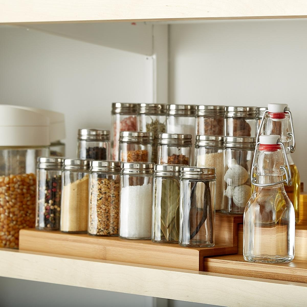 Container Store Bamboo Expanding Spice Shelf