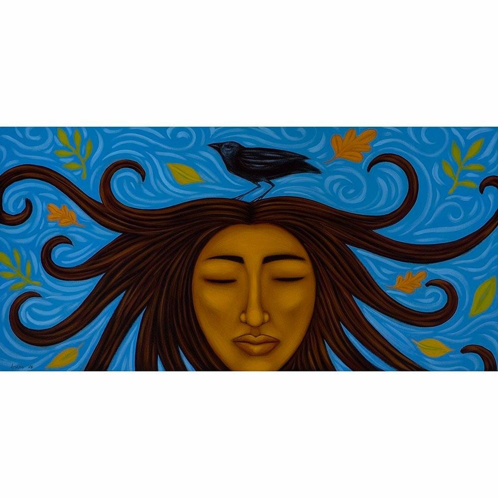 Tamara Adams Art - Woman Rising (Painting)