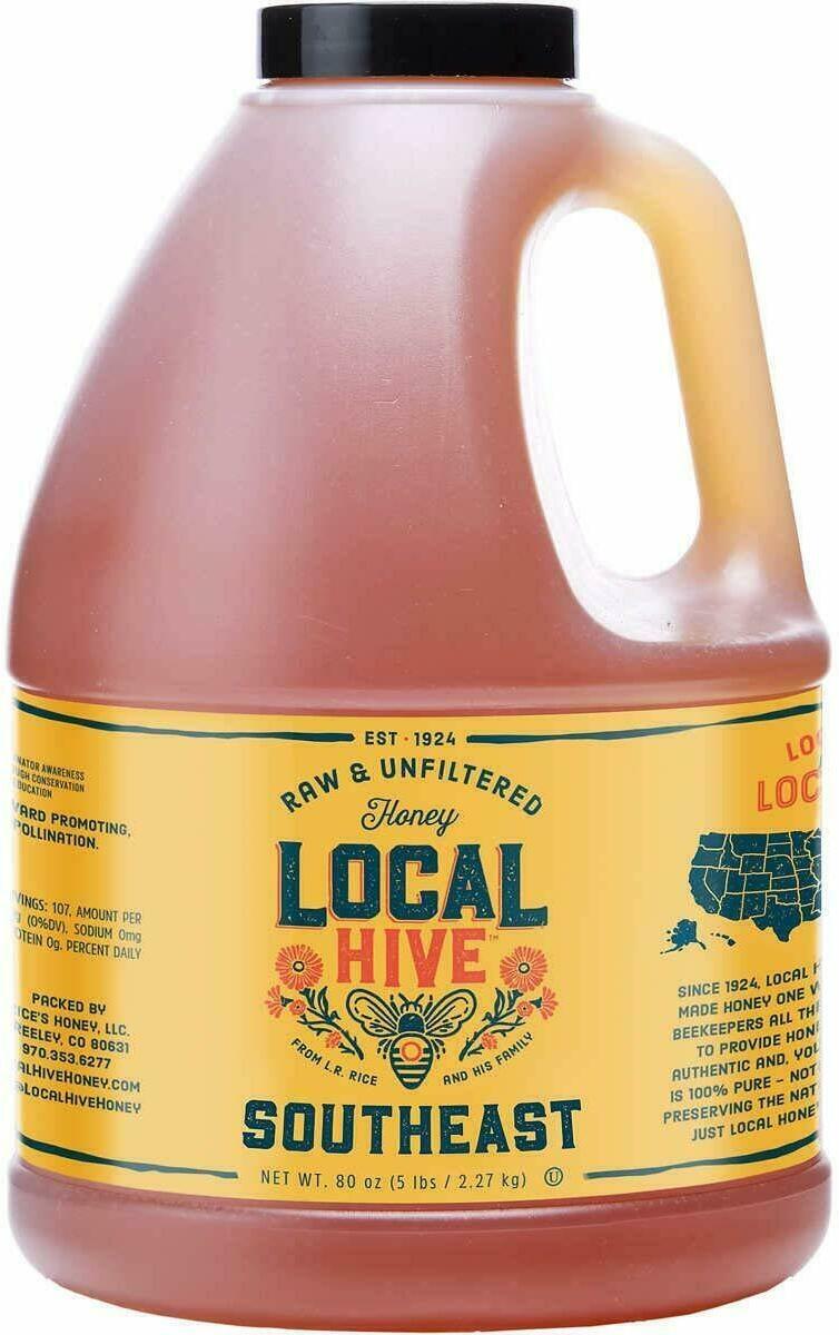 Local Hive Honey, Raw Unfiltered Colorado Honey, 80 Oz