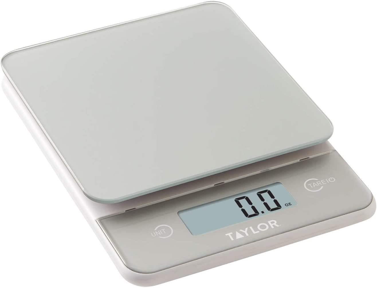 Taylor Precision Products 11lb Digital Glass Top Household Kitchen Scale