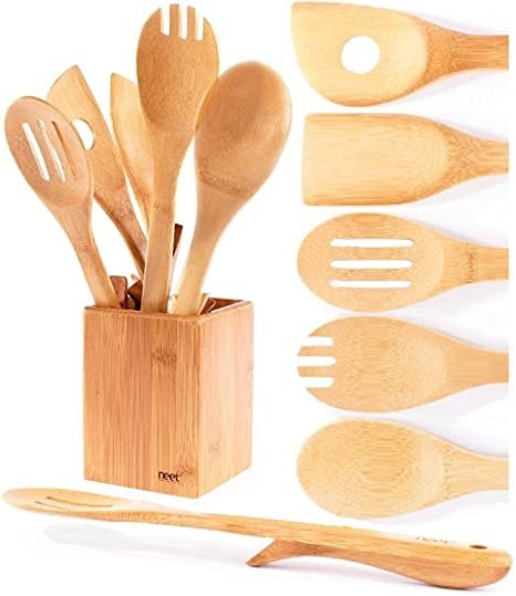 Neet Organic Bamboo Cooking Spoons