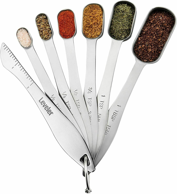 Rectangular Stainless Steel Measuring Spoon Set