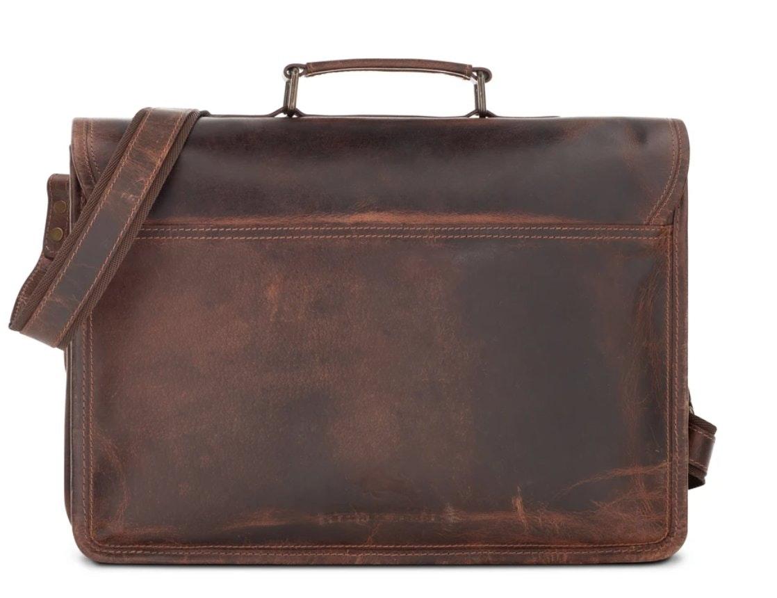 Levinson Parker Buffalo Leather Messenger Bag