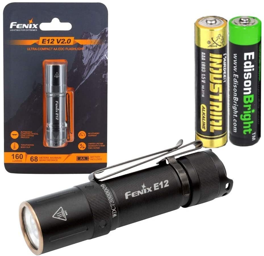 Fenix E12 V2 160 Lumen LED Flashlight