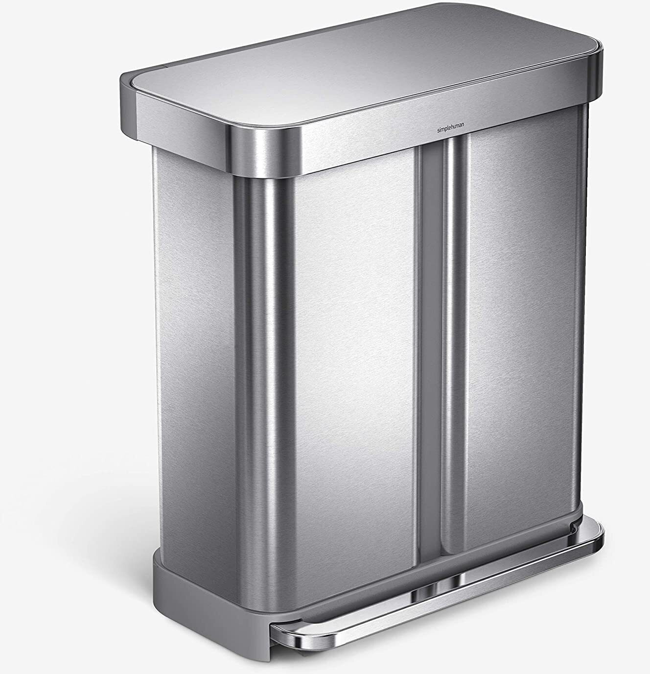 Simple Human Dual Compartment Trash Can