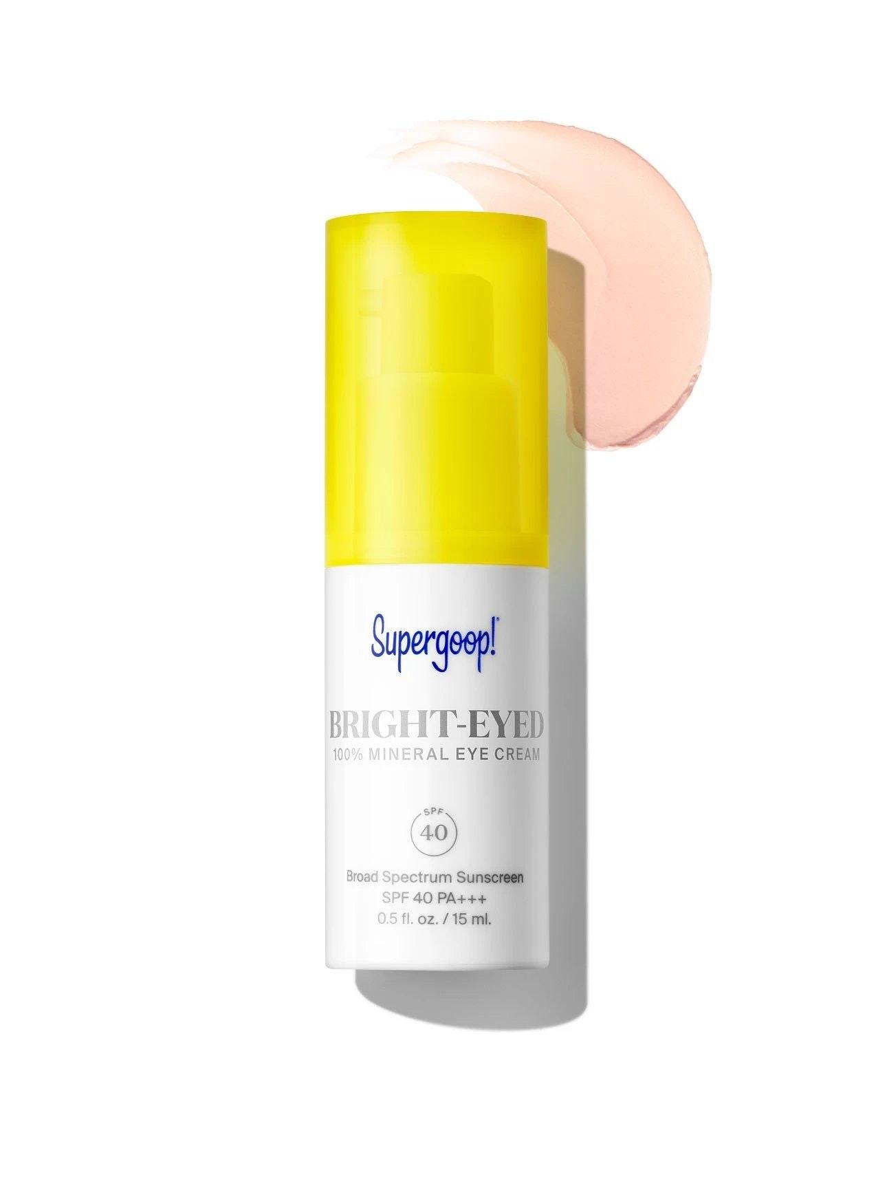 Supergoop! Bright-Eyed 100% Mineral Eye Cream Spf 40