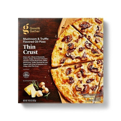 Good and Gather Thin Crust Mushroom & Truffle Oil Frozen Pizza