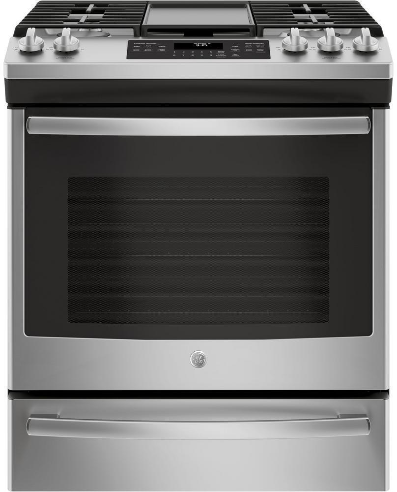 GE Oven Slide-In Front-Control Convection Gas Range