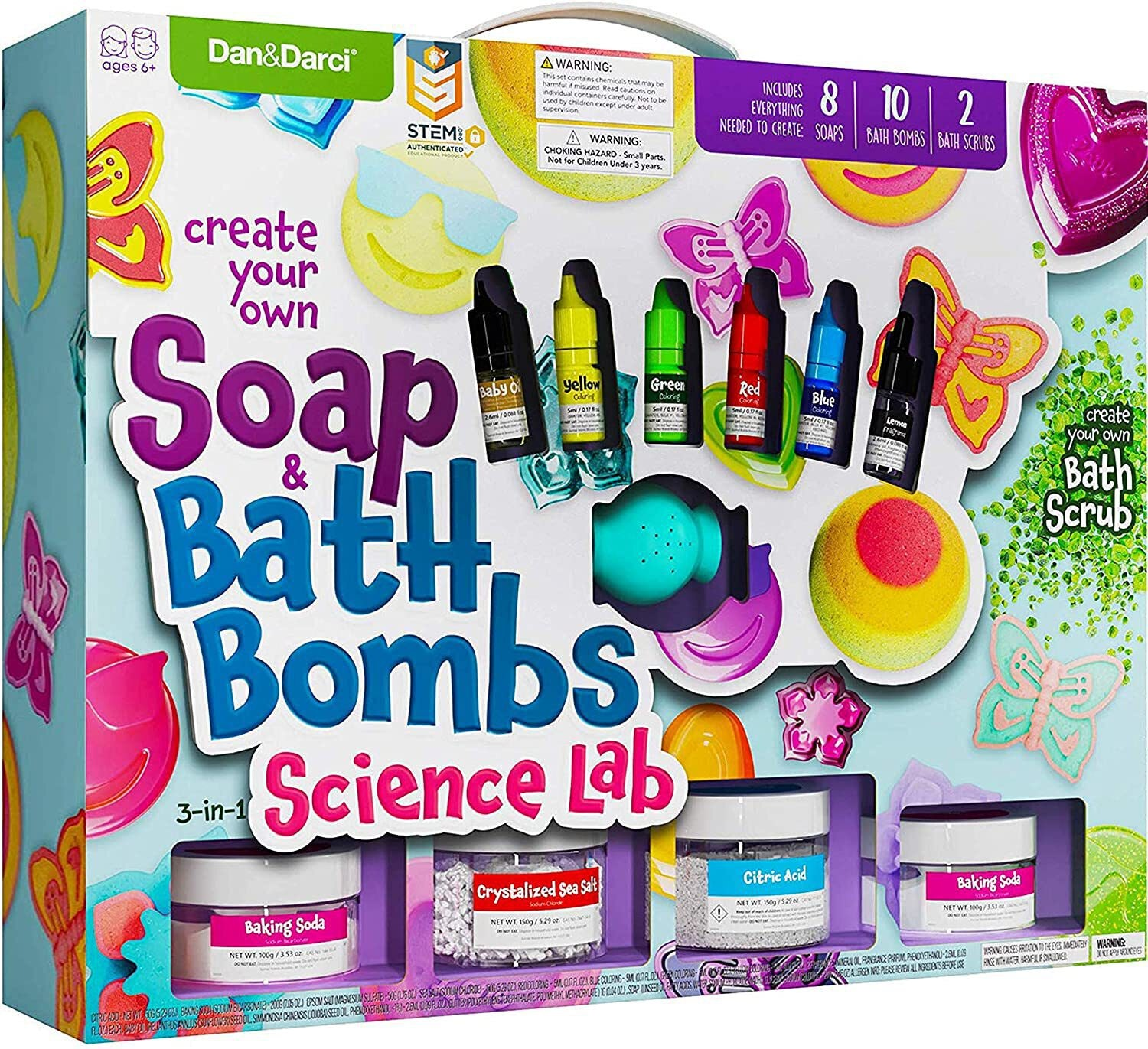 Dan&Darci Create Your Own Soap & Bath Bombs Kit