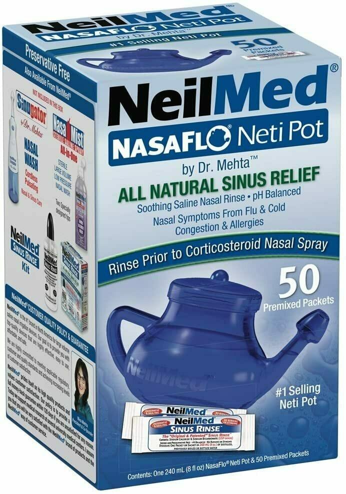 NeilMed NasaFlo Unbreakable Neti Pot