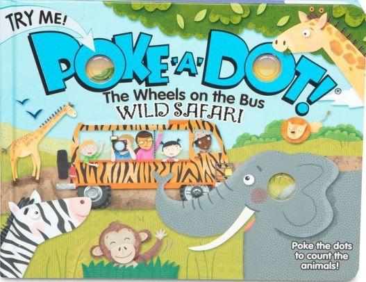 Melissa & Doug Children's Book - Poke-A-Dot: the Wheels on the Bus Wild Safari (