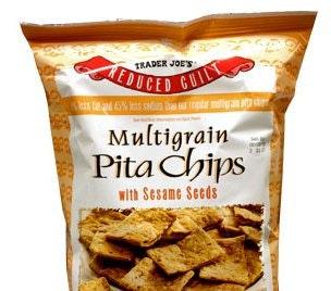 Traders Joe's Multigrain Pita Chips With Sesame Seeds