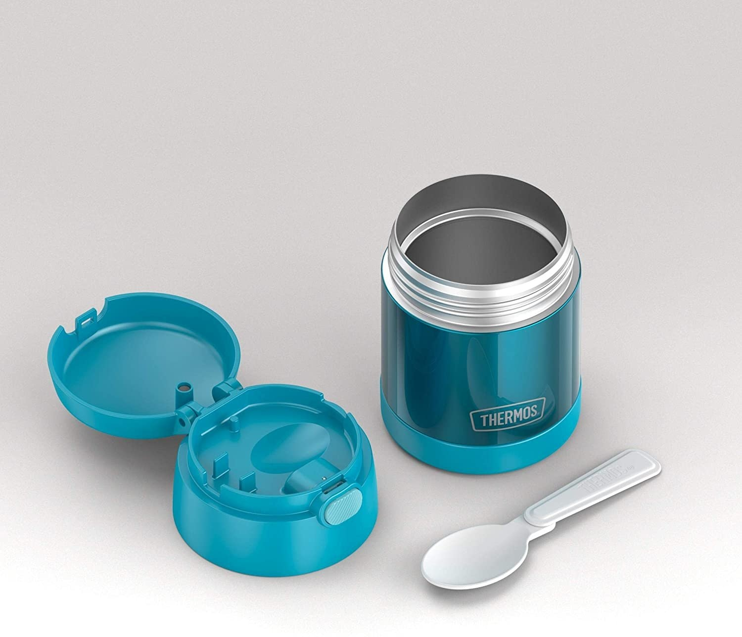 Thermos Funtainer 10 Ounce Stainless Steel Vacuum Insulated Kids Food Jar With Folding Spoon