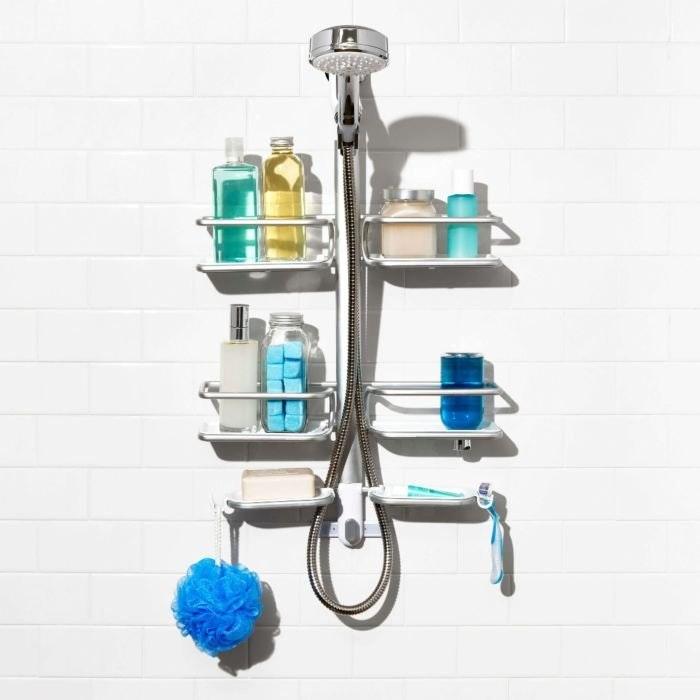 Oxo Good Grips Aluminum Hose Keeper Shower Caddy