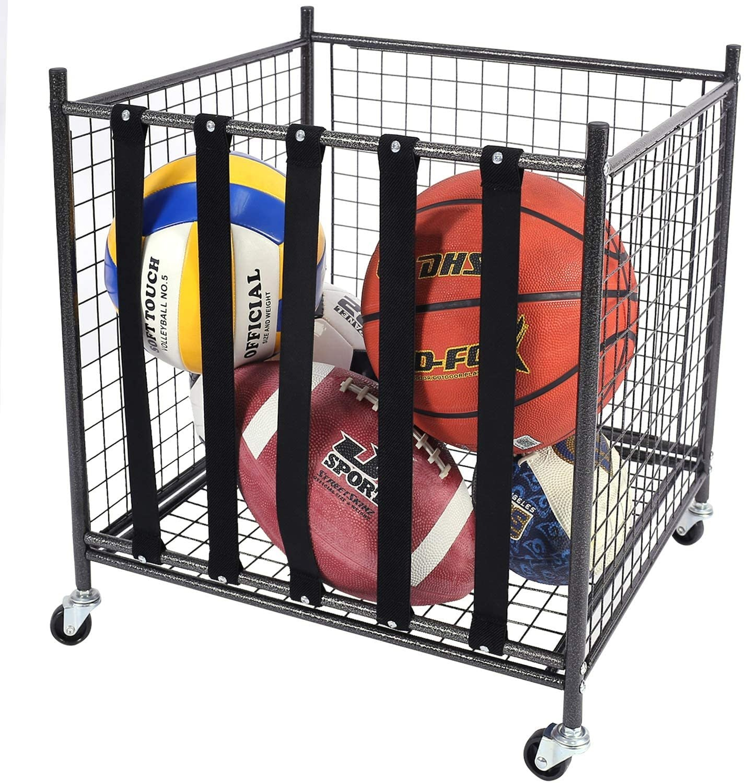 Mythinglogic Rolling Sports Ball Storage Cart