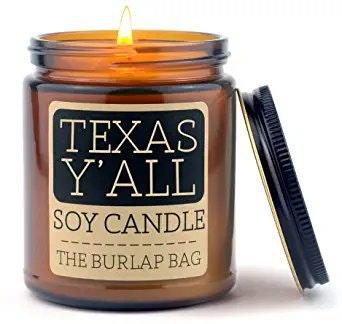 Burlap Bag Texas Y'all 9oz Soy Candle