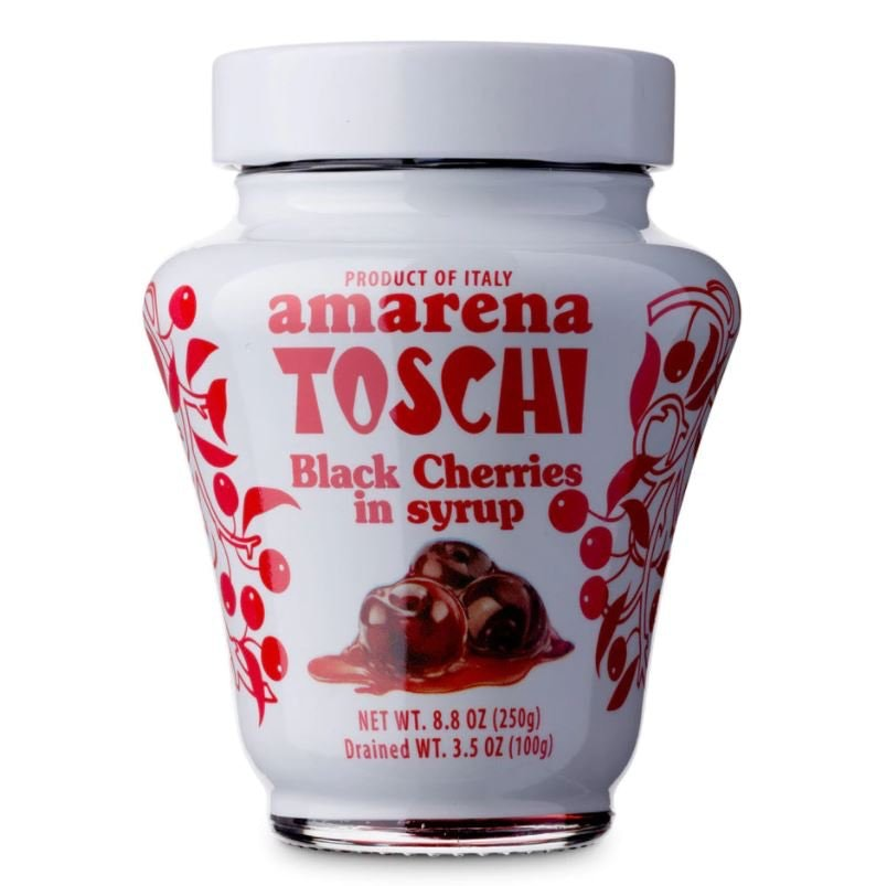 Toschi Italian Amarena Black Cherries in Syrup