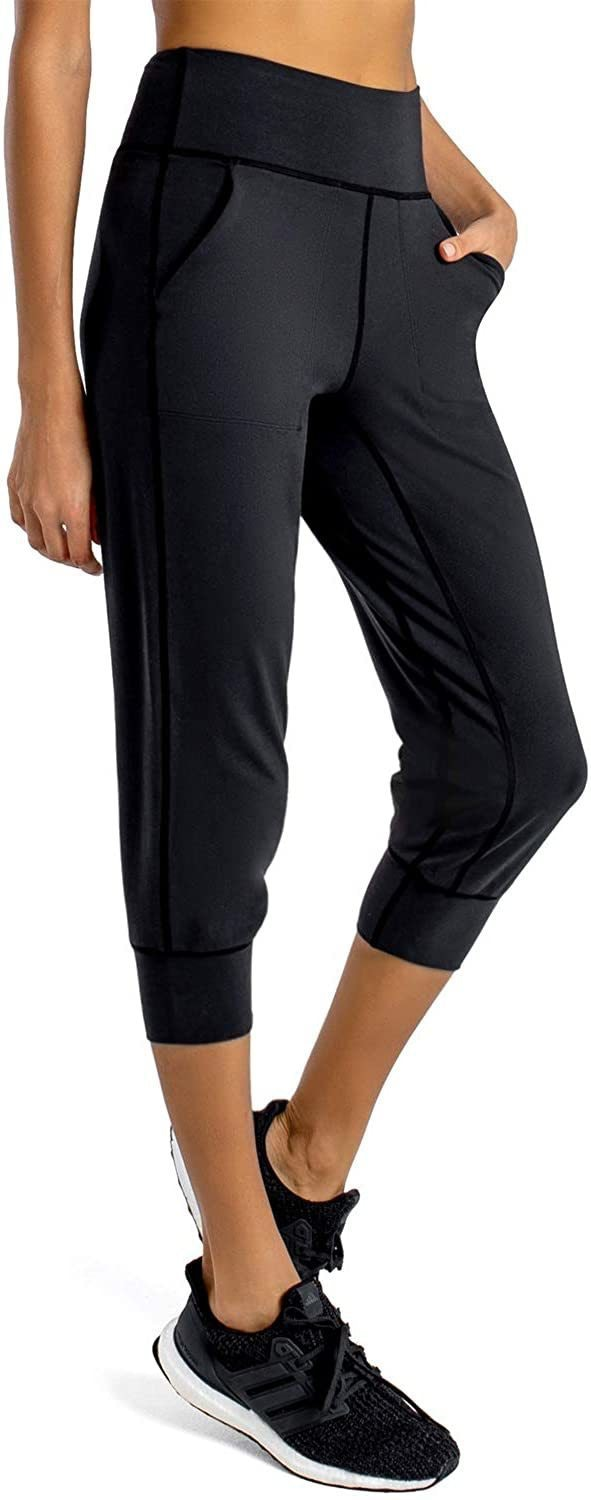 First Way Women's Buttery Soft Yoga Jogger Pants/Capris